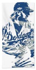 Justin Turner Los Angeles Dodgers Pixel Art 15 Hand Towel