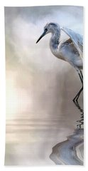 Juvenile Heron Hand Towel by Cyndy Doty