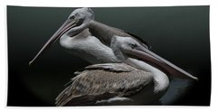 Juxtaposition - Pelicans Hand Towel