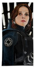 Jyn Erso Hand Towel by Tom Carlton