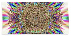 Bath Towel featuring the digital art Jyoti Ahau 2374 by Robert Thalmeier