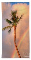 Kahekili Beach Park Rainbow Palm Hand Towel