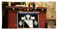 Monks And Buddhist Monastery Tibet Yantra.lv  Hand Towel