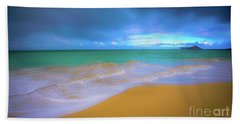 Bath Towel featuring the photograph Seascape, Kailua - Lanikai, Oahu, Hawaii by D Davila