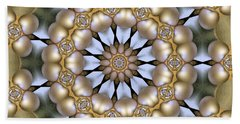 Hand Towel featuring the digital art Kaleidoscope 130 by Ron Bissett