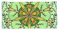 Kaleidoscope Deer Hand Towel by Debra Baldwin