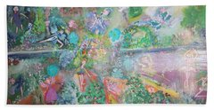 Kaleidoscope Fairies Too Bath Towel by Judith Desrosiers
