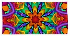 Kaleidoscope Flower 01 Bath Towel