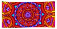 Kaleidoscope Flower 02 Bath Towel