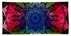 Kaleidoscope - Warm And Cool Colors Hand Towel