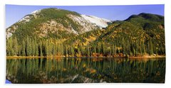 Kananaskis - Autumn Reflections 2 Hand Towel by Stuart Turnbull
