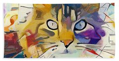 Kandinsky Cat Hand Towel