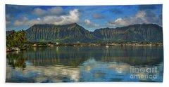 Kaneohe Bay Oahu Hawaii Hand Towel