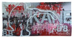 Hand Towel featuring the painting Kaner 88 by Melissa Goodrich