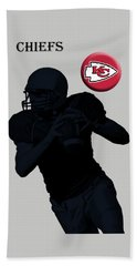 Kansas City Chiefs Football Hand Towel by David Dehner
