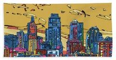 Kansas City Skyline Panorama 3 Hand Towel