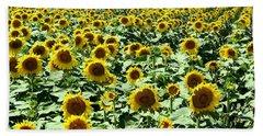 Kansas Sunflower Field Bath Towel