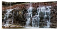 Hand Towel featuring the photograph Kansas Waterfall 3 by Jay Stockhaus