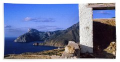 Hand Towel featuring the photograph Karpathos Island Greece by Silvia Ganora