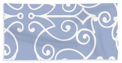 Kasbah Blue Arabesque Hand Towel