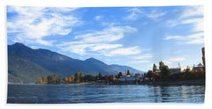 Hand Towel featuring the photograph Kaslo by Cathie Douglas