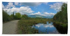 Katahdin In The Clouds Bath Towel