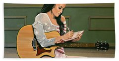 Katy Perry Painting Bath Towel