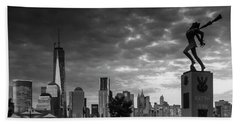 Bath Towel featuring the photograph Katyn New World Trade Center In New York by Ranjay Mitra