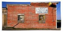 Katy's Wildlife Sanctuary Landmark Bar Building, Bar Hand Towel by Wernher Krutein