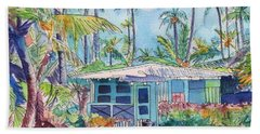 Kauai Blue Cottage 2 Bath Towel by Marionette Taboniar