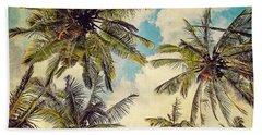 Kauai Island Palms - Blue Hawaii Photography Bath Towel