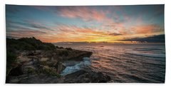 Kauai Seascape Sunrise Bath Towel