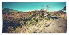 Kaupo Other Road To Hana Sunset Piilani Highway Maui Hawaii Bath Towel by Sharon Mau
