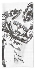 Kawhi Leonard San Antonio Spurs Pixel Art 17 Hand Towel