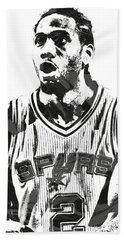 Kawhi Leonard San Antonio Spurs Pixel Art 4 Hand Towel