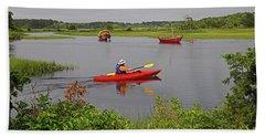 Kayaking On The Herring River Bath Towel