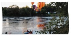 Kayaks And Balloons Hand Towel