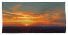 Hand Towel featuring the photograph Kc Sunset by Dave Luebbert
