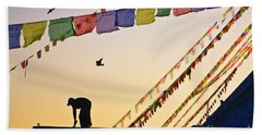 Hand Towel featuring the photograph Kdu_nepal_d113 by Craig Lovell