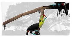 Keel-billed Toucans Bath Towel