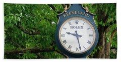 Keeneland Clock Bath Towel