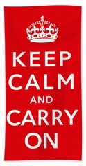 Keep Calm And Carry On Hand Towel