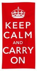 Keep Calm And Carry On Bath Towel