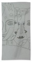 Keeper Of Secrets Hand Towel by Sharyn Winters