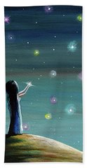Keeping Her Dreams Alive Fantasy Painting Bath Towel