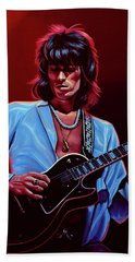 Keith Richards The Riffmaster Hand Towel by Paul Meijering