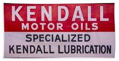 Kendall Motor Oils Sign Bath Towel