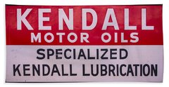 Kendall Motor Oils Sign Hand Towel