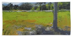 Bath Towel featuring the painting Kenilworth Landscape Queensland Australia by Chris Hobel