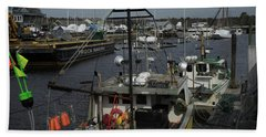 Kennebunkport Harbor In Early Winter Bath Towel